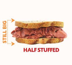 Overstuffed sandwich